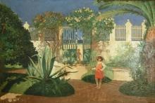 Juan Antonio Benlliure, Jardín en la Malvarrosa. Colección particular. Foto FMB