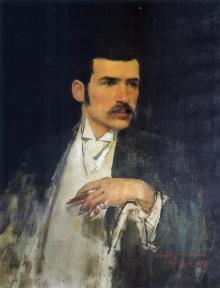 Juan Antonio Benlliure, Retrato Mariano Benlliure, 1889. Colección particular. Foto FMB
