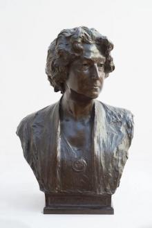 """Mariano Benlliure, """"Busto retrato de Lucrecia Arana"""", 1927. Colección particular. © AFMB"""