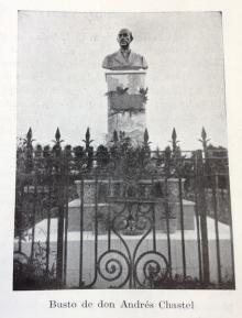 Foto publicada por Carmen Quevedo, supuestamente de la tumba de Andrés Chastel, cuyo busto no se corresponde con el esculpido por Benlliure.