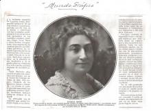 Mundo Gráfico, artículo sobre Lucrecia Arana a raíz de su fallecimiento el 9 de mayo de 1927. Archivo Fundación Mariano Benlliure