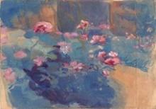 Peppino Benlliure Ortiz, Rosal sobre fondo azul. Casa-Museo Benlliure, Valencia
