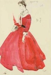 Lucrecia Feduchi Benlliure, Traje rojo de costura. Colección particular. Foto FMB