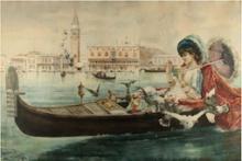 Mariano Benlliure Gil, Un paseo por el Gran Canal. Colección particular. Foto FMB
