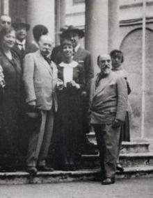 Mariano Benlliure visita a Miguel Blay, director de la Academia de España en Roma. Foto Colección particular Ciudad Real