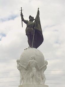 Monumento a Nuñez de Balboa, Panamá, Benlliure y Blay. Foto Archivo FMB