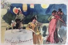 José Benlliure Ortiz (Peppino), BAile nocturno. Mujerres en la terraza, ca. 1908. Casa-Museo Benlliure, Ayuntamiento de Valencia