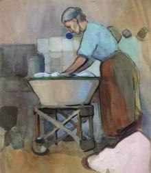 José Benlliure Ortiz (Peppino), Mujer lavando, ca. 1910. Casa-Museo Benlliure, Ayuntamiento de Valencia