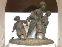 """Antonio Sciortino, """"Les Gavroches"""", 1904, bronce. Museo de Bellas Artes, La Valetta. Foto Archivo Fundación Mariano Benlliure (AFMB)"""