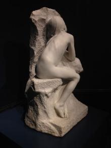 Miguel Blay, Niña desnuda (fragmento de Los primeros fríos). Foto Archivo FMB