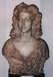 Celia Gámez, ca.1943, escayola. Museo Nacional del Teatro, Almagro