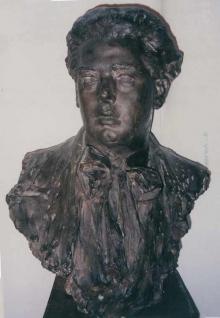 Giuseppe Anselmi, ca.1909, escayola pintada. Museo Nacional del Teatro, Almagro