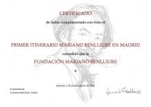 Recorrido navideño por los monumentos de Mariano Benlliure: Certificado. Foto FMB