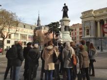 Recorrido navideño por los monumentos de Mariano Benlliure: monumento a la reina María Cristina de Borbón. Foto FMB