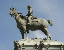 Estatua de Alfonso XII a caballo. Foto Foto JC Martín Lera, DGPH CAM