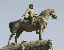 Estatua de Alfonso XII a caballo. Foto JC Martín Lera, DGPH CAM