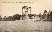 Monumento a Alfonso XII en el parque del Retiro de Madrid antes de su terminación. Foto Archivo FMB