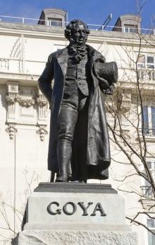 Estatua de Goya. 1902. Foto Archivo Fundación Mariano Benlliure