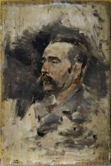 Juan Antonio Benlliure, Retrato de Juan Antonio Benlliure Tomas, ca.1880, óleo / tabla. Colección particular. Foto Archivo Fundación Mariano Benlliure
