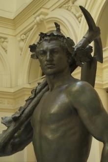Monumento al marqués de Larios, detalle de la estatua de la Alegoría del trabajo. Foto Fundación Mariano Benlliure