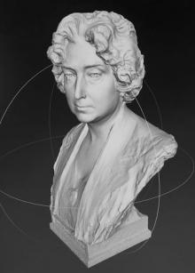 Modelo digital del pusto de Lucrecia Arana. © AFMB