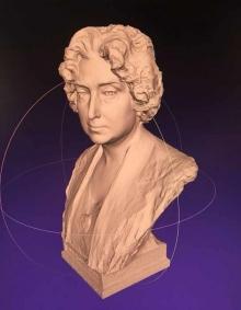 Modelo digital obtenido por fotogrametría del busto de Lucrecia Arana. © Fundación Mariano Benlliure