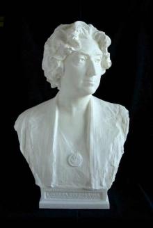 Prototipo en poliester del busto de Lucrecia Arana. © Fundación Mariano Benlliure