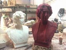 Prototipo en poliester y positivo en cera del busto de Lucrecia Arana. © Fundación Mariano Benlliure