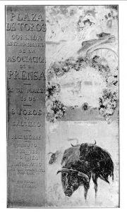 Mariano Benlliure, Cartel de la Corrida de la Prensa de 1905, óleo sobre lienzo, 248 x 140 cm. © Fundación Mariano Benlliure