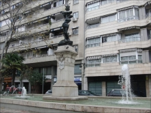 Monumento a Cervantes en los jardines de la Calle Guillén de Castro. Foto J.Diez Arnal