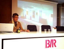 Conferencia sobre Lucrecia Arana en la Biblioteca de La Rioja en Logroño. © AFMB