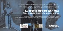 Invitación a la conferencia sobre Lucrecia Arana en Haro