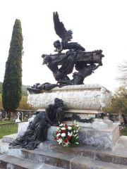 Mariano Benlliure, detalle del Mausoleo de Julián Gayarre después de los trabajos de limpieza y conservación.  Foto Fundación Gayarre