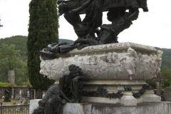 Mariano Benlliure, Mausoleo de Julián Gayarre antes de los trabajos de limpieza y conservación. Foto Fundación Mariano Benlliure
