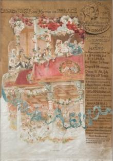 Cartel de la Corrida Regia. 1906. Litografía / seda. Foto Subastas Fernando Durán
