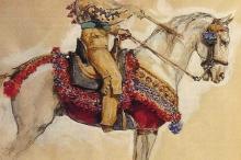 Faja de defensa. Lápiz, acuarela y gouache / papel. Colección particular. Foto Fundación Mariano Benlliure