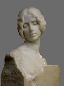 Mariano Benlliure, Cleo de Merode, 1910, mármol de Carrara. Colección particular. Foto Archivo Fundación Mariano Benlliure