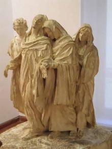 Modelo para Las tres Marías y San Juan. Ca. 1932, escayola patinada. Foto Archivo Fundación Mariano Benlliure