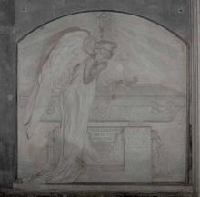 """Mariano Benlliure, """"Lápida de los condes de San Julián"""". Foto Archivo Fundación Mariano Benlliure"""
