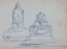 Apuntes para monumento. Archivo FMB