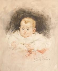 "Mariano Benlliure, ""José Luis Mariano Benlliure Arana"", 1898, acuarela. Colección particular. Foto AFMB"