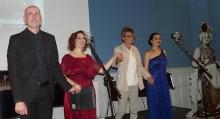 Elías Romero, Anna Tonna, Lucrecia Enseñat y Gloria Londoño