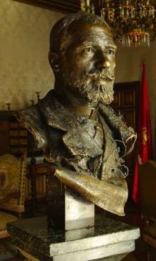 Mariano  Benlliure, Retrato de Julián Gayarre, Roma, 1889. Presidencia del Gobierno de Navarra. Foto Fundación Mariano Benlliure