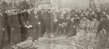 Acto de inauguración del monumento al general Martínez Campos. Foto ABC, 29 de enero de 1907.