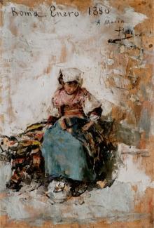 José Benlliure Gil, Ciociara, óleo / tabla_Foto Casa-Museo Benlliure, Ayuntamiento de Valencia