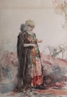 José Benlliure Gil, Mujer Mora, acuarela / papel_Foto Casa-Museo Benlliure, Ayuntamiento de Valencia