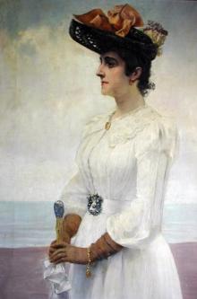 Juan Antonio Benlliure, Leopoldina Tuero O'Donell. Colección particular. Foto FMB