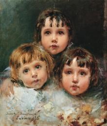 Juan Antonio Benlliure, Los hijos de José Benlliure, 1886. Museo de Bellas Artes de Valencia