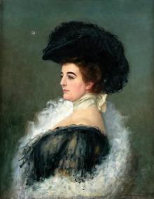 Juan Antonio Benlliure, Retrato de dama. Colección particular. Foto FMB