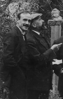 José Benlliure y su hijo José Benlliure Ortiz. Foto Archivo FMB